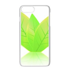 Leaves Green Nature Reflection Apple Iphone 7 Plus White Seamless Case by Nexatart