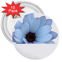 Daisy Flower Floral Plant Summer 3  Buttons (10 Pack)  by Nexatart