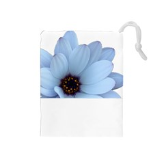 Daisy Flower Floral Plant Summer Drawstring Pouches (medium)  by Nexatart