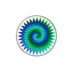 Star 3d Gradient Blue Green Hat Clip Ball Marker