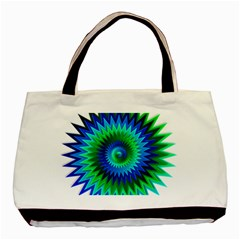 Star 3d Gradient Blue Green Basic Tote Bag