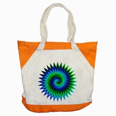Star 3d Gradient Blue Green Accent Tote Bag by Nexatart
