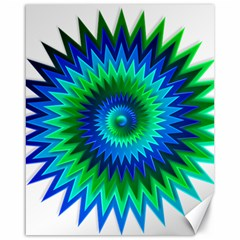 Star 3d Gradient Blue Green Canvas 16  X 20