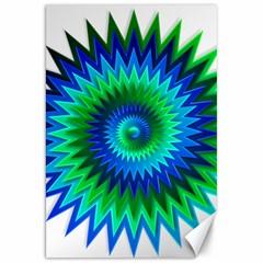 Star 3d Gradient Blue Green Canvas 20  X 30