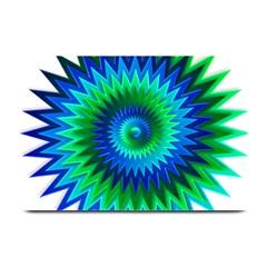 Star 3d Gradient Blue Green Plate Mats by Nexatart