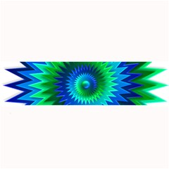 Star 3d Gradient Blue Green Large Bar Mats by Nexatart