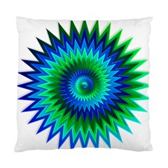 Star 3d Gradient Blue Green Standard Cushion Case (two Sides) by Nexatart