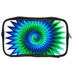 Star 3d Gradient Blue Green Toiletries Bags 2 Side by Nexatart