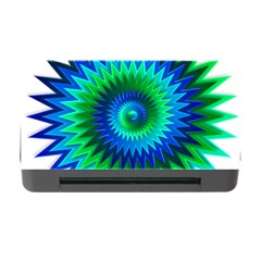 Star 3d Gradient Blue Green Memory Card Reader With Cf by Nexatart