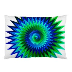 Star 3d Gradient Blue Green Pillow Case (two Sides)