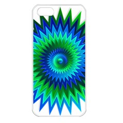 Star 3d Gradient Blue Green Apple Iphone 5 Seamless Case (white) by Nexatart