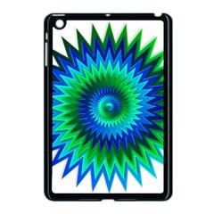 Star 3d Gradient Blue Green Apple Ipad Mini Case (black) by Nexatart