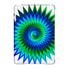 Star 3d Gradient Blue Green Apple Ipad Mini Hardshell Case (compatible With Smart Cover)