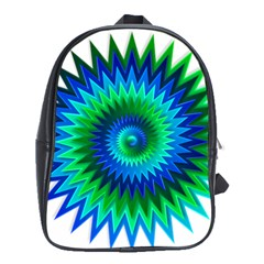 Star 3d Gradient Blue Green School Bags (xl)  by Nexatart