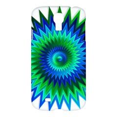 Star 3d Gradient Blue Green Samsung Galaxy S4 I9500/i9505 Hardshell Case by Nexatart