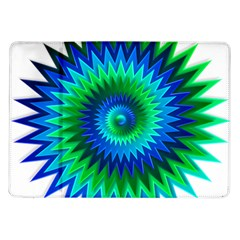Star 3d Gradient Blue Green Samsung Galaxy Tab 10 1  P7500 Flip Case