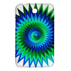 Star 3d Gradient Blue Green Samsung Galaxy Tab 3 (7 ) P3200 Hardshell Case  by Nexatart