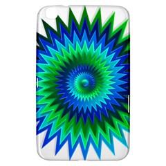 Star 3d Gradient Blue Green Samsung Galaxy Tab 3 (8 ) T3100 Hardshell Case