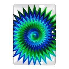 Star 3d Gradient Blue Green Kindle Fire Hdx 8 9  Hardshell Case by Nexatart