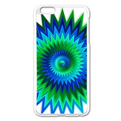 Star 3d Gradient Blue Green Apple Iphone 6 Plus/6s Plus Enamel White Case