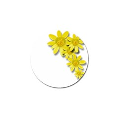 Flowers Spring Yellow Spring Onion Golf Ball Marker (4 Pack)