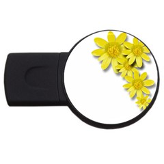 Flowers Spring Yellow Spring Onion Usb Flash Drive Round (4 Gb) by Nexatart