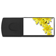Flowers Spring Yellow Spring Onion Usb Flash Drive Rectangular (4 Gb)