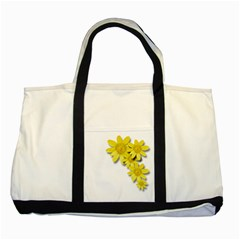 Flowers Spring Yellow Spring Onion Two Tone Tote Bag by Nexatart
