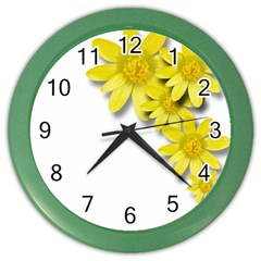 Flowers Spring Yellow Spring Onion Color Wall Clocks