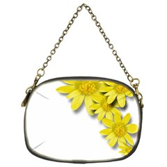 Flowers Spring Yellow Spring Onion Chain Purses (two Sides)  by Nexatart