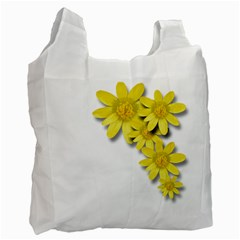 Flowers Spring Yellow Spring Onion Recycle Bag (one Side)