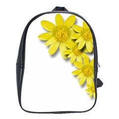 Flowers Spring Yellow Spring Onion School Bags(large)  by Nexatart