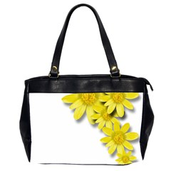 Flowers Spring Yellow Spring Onion Office Handbags (2 Sides)  by Nexatart