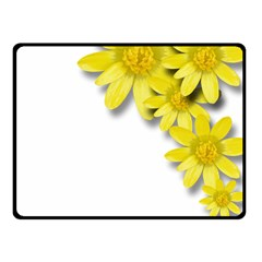 Flowers Spring Yellow Spring Onion Fleece Blanket (small) by Nexatart
