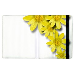 Flowers Spring Yellow Spring Onion Apple Ipad 3/4 Flip Case by Nexatart