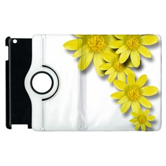 Flowers Spring Yellow Spring Onion Apple Ipad 2 Flip 360 Case by Nexatart