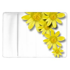 Flowers Spring Yellow Spring Onion Samsung Galaxy Tab 10 1  P7500 Flip Case by Nexatart
