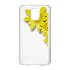 Flowers Spring Yellow Spring Onion Samsung Galaxy S5 Case (white)