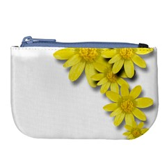 Flowers Spring Yellow Spring Onion Large Coin Purse