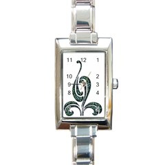 Scroll Retro Design Texture Rectangle Italian Charm Watch by Nexatart