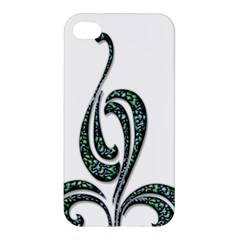 Scroll Retro Design Texture Apple Iphone 4/4s Premium Hardshell Case