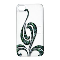 Scroll Retro Design Texture Apple Iphone 4/4s Hardshell Case With Stand
