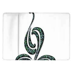 Scroll Retro Design Texture Samsung Galaxy Tab 10 1  P7500 Flip Case
