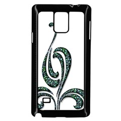 Scroll Retro Design Texture Samsung Galaxy Note 4 Case (black)