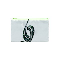 Scroll Retro Design Texture Cosmetic Bag (xs) by Nexatart