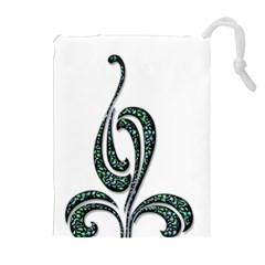 Scroll Retro Design Texture Drawstring Pouches (extra Large)