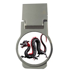 Dragon Black Red China Asian 3d Money Clips (round)