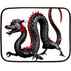 Dragon Black Red China Asian 3d Double Sided Fleece Blanket (mini)  by Nexatart