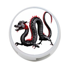 Dragon Black Red China Asian 3d 4 Port Usb Hub (two Sides)  by Nexatart