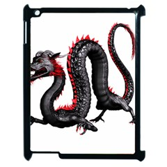 Dragon Black Red China Asian 3d Apple Ipad 2 Case (black) by Nexatart